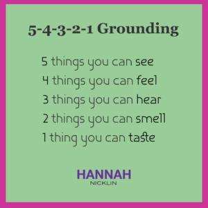 grounding 5-4-3-2-1