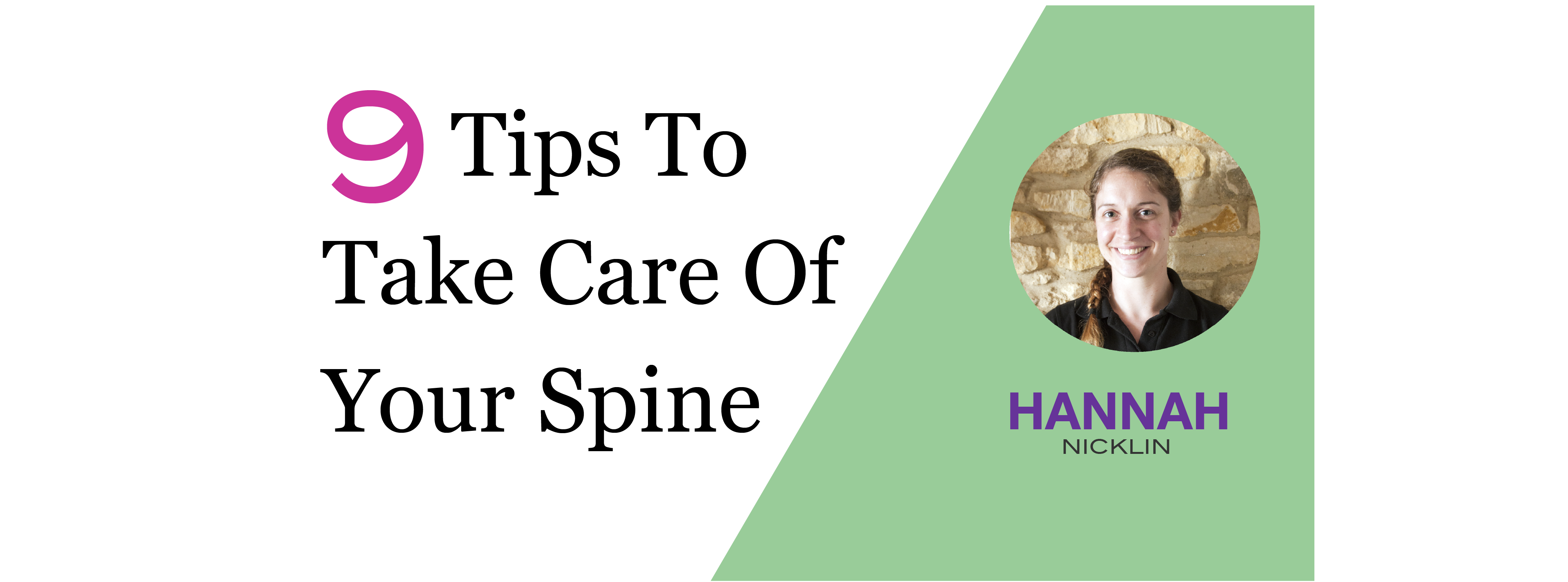 Back Pain - 9 Tips To Take Of Your Spine